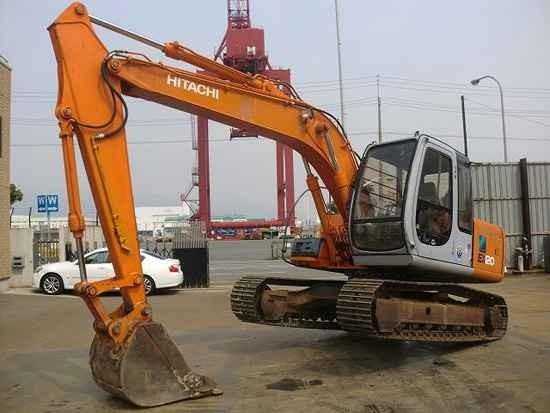 广州市日立120 12T挖掘机出租
